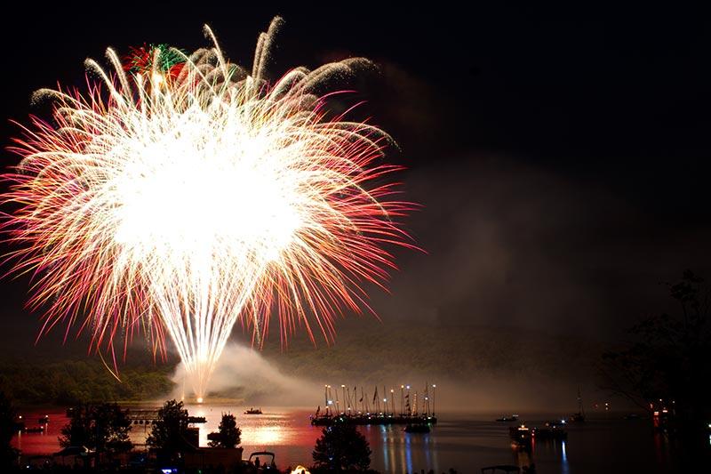 Regatta Fireworks over the Lake